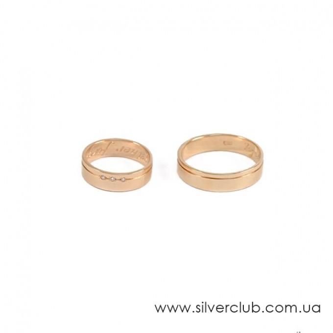Обручальные кольца классика золотые